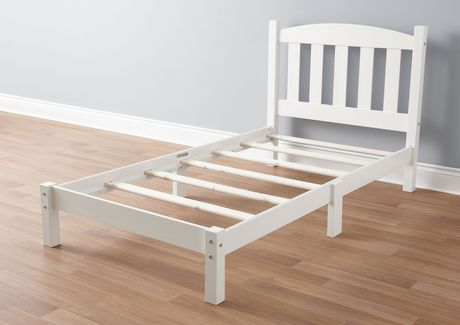 MAINSTAYS Twin Wood Bed, White - image 2 of 3
