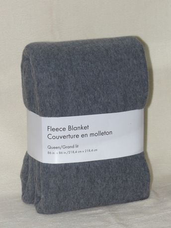 grey label fleece blanket