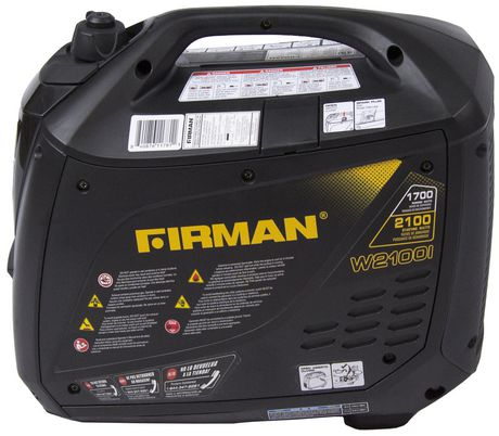 Firman Power Equipment W01781 Gas Powered 2100/1700 Watt (whisper Series) Extended Run Time Inverter Generator - image 2 of 7