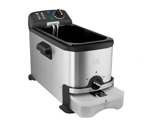 Kalorik 3.2 Quarts Deep Fryer with Oil Filtration System, Stainless Steel - image 3 of 6