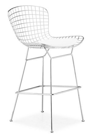 Fine Nicer Furniture White Bertoia Bar Stool Beatyapartments Chair Design Images Beatyapartmentscom