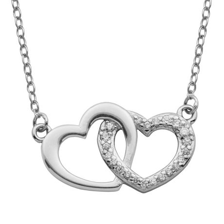 db72157788 PAJ Sterling Silver Interlocking Hearts Necklace - image 1 of 2 ...