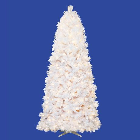 Holiday Time 7.5' Lenox Flocked Quick Set White Pine with ...
