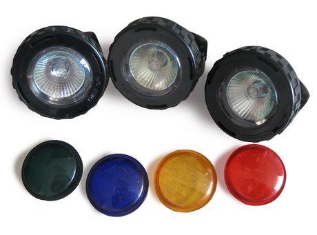 Angelo Décor 3 10-watt Pond/Fountain Coloured Lenses Halogen Spotlights - image 1 of 1