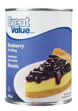 Garniture pour tartes aux bleuets Great Value, 540 ml - image 1 de 2