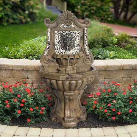 Fontaine lion d 39 angelo d cor de 128 cm 50 po for Lions meuble circulaire