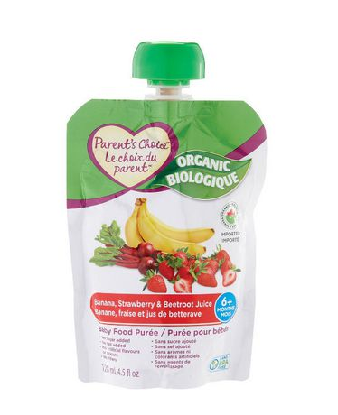 Parent S Choice Organic Banana Strawberry Amp Beetroot