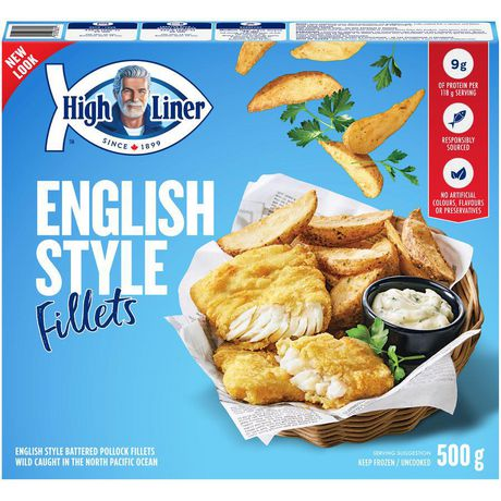 High liner english style fish fillets in batter 500 g for How much are fish at walmart