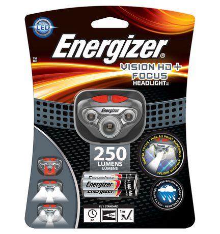 Energizer Lampe frontale DEL Vision HD + 3 piles AAA - image 1 de 1