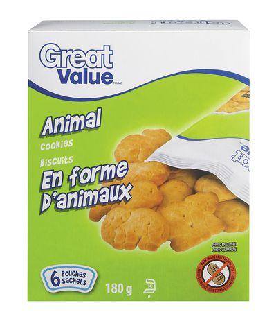 Biscuits en forme d'animaux de Great Value - image 1 de 2