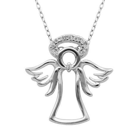 Paj sterling silver angel pendant walmart canada aloadofball Image collections