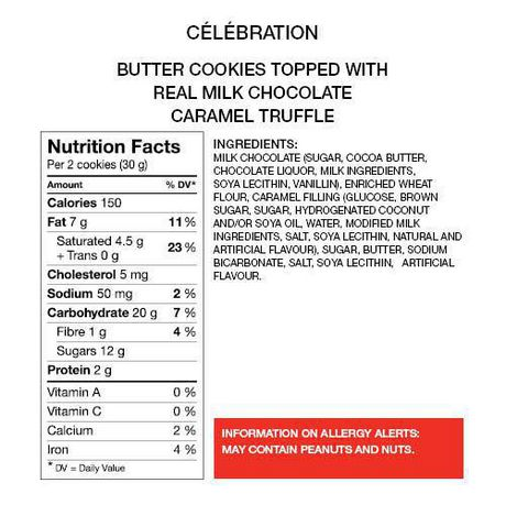 Celebration Milk Chocolate Top Butter Caramel Truffle Cookies - image 4 of 5