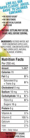 Breuvage de jus de pomme à l'ancienne Oasis 70 calories - image 4 de 5