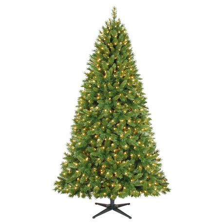 holiday time 75 kennedy quick set pine with clear lights christmas tree walmart canada - Holiday Time Christmas Tree