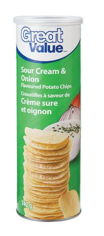 great value sour cream onion flavoured potato chips walmart canada. Black Bedroom Furniture Sets. Home Design Ideas