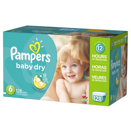 Couches sèches pour bébé de Pampers de format économique plus | Walmart Canada