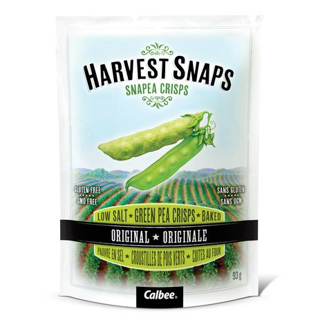 Calbee Harvest Snaps Snapea Crisps Original Low Salt Gluten Free Baked Green Pea Crisps - image 1 of 2