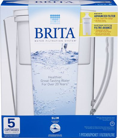 brita® slim water filtration pitcher | walmart canada