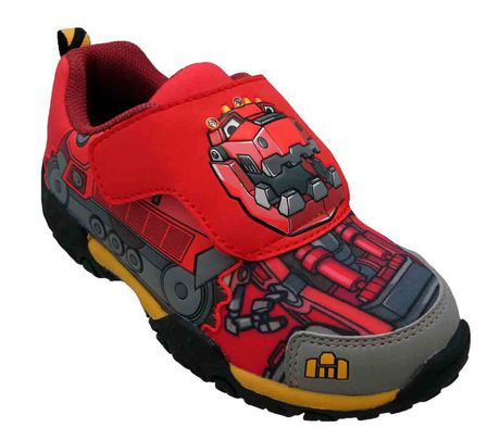 Dino Trux Toddler Boys Athletic Shoe with Lights