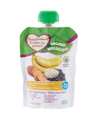 Parent's Choice Organic Banana, Sweet Potato, Blueberry & Brown Rice Baby Food Purée - image 1 of 2