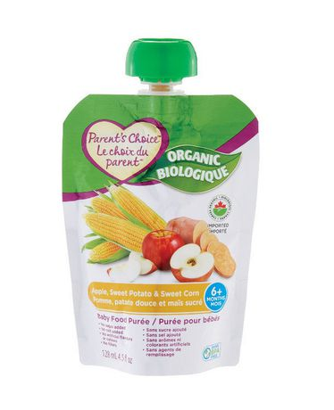 Parent's Choice Organic Apple, Sweet Potato & Sweet Corn Baby Food Purée - image 1 of 2