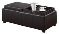 MADISON II-DOUBLE TRAY OTTOMAN Brown
