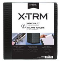 "Studio C 1"" XTRM Heavy Duty 3-Ring Black Binder"
