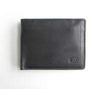 Nicci Mens Leather Coin Slimfold Wallet