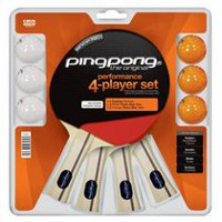 Ping Pong 4 Player Table Tennis Set