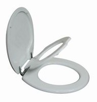 TopSeat TinyHiney Round Child and Adult 2 in 1 Regular Lid Closure Chrome Hinge Toilet Seat