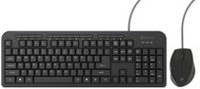 Borne Wired Multimedia Black Keyboard and Mouse Combo