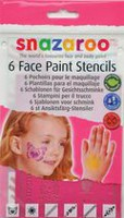 Snazaroo Set of 6 Face Paint Stencils - Girls