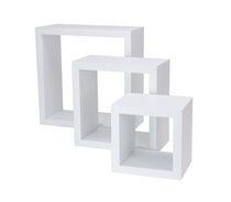 Wall Cube White Shelf Set