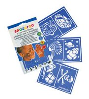 Snazaroo Set of 6 Face Paint Stencils - Boys Adventure