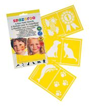 Snazaroo Set of 6 Face Paint Stencils - Unisex