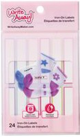 Mabel's Labels Write Away Iron On Girls Labels, 24 Count