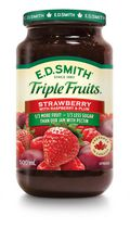 E.D. Smith Triple Fruits Strawberry Raspberry Red Plum Spread