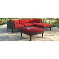 CorLiving PPO-854-Z Oakland Sofa with Chaise Lounge Patio Set