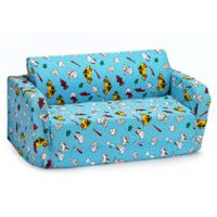 Comfy Kids Flip Sofa Light Blue