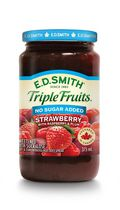 E.D. Smith Triple Fruits No Sugar Added Strawberry Raspberry Red Plum Spread