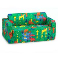 Comfy Kids Flip Sofa Green