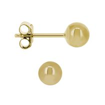 Aurelle - 10KT Yellow Gold 4MM Ball Earrings with Medium posts