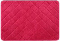 Mainstays Memory Foam Diamond Rug Red