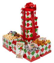 Baskets by On Occasion Plaid Holiday Tower Gift Basket