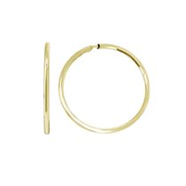 Aurelle- 10KT Yellow Gold 13mm Hoop earrings