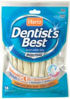 Hartz Dentist's Best Twists 5 in 16 Pack