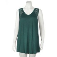 George Plus Women's V-Neck Tank Teal 1X