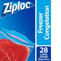 Ziploc Freezer Bags Large Value Pack, 28 Bags
