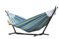 Vivere's Combo - Double Hammock with Stand (8ft) Blue/Green