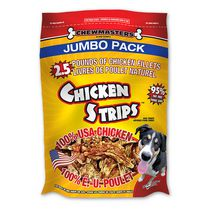 Gâteries pour chiens Chicken Strips de Chewmasters - Emballage jumbo